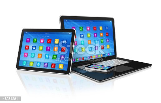 istock Smartphone, Digital Tablet Computer and Laptop 462312811