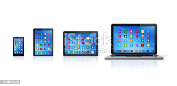 istock Smartphone, Digital Tablet Computer and Laptop 484623733