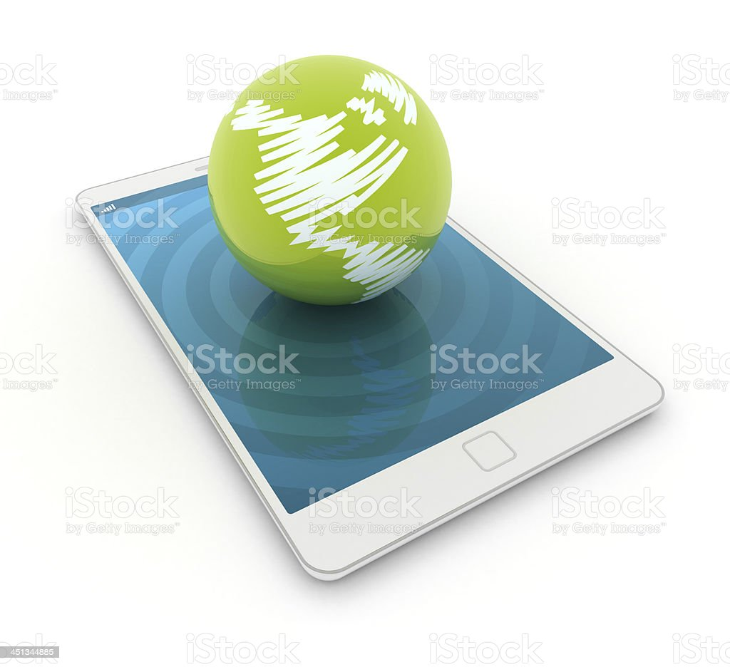 Smartphone - Earth royalty-free stock photo