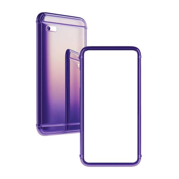 Smartphone frameless template stock photo