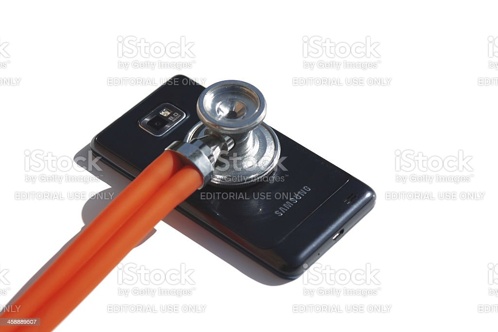 Smartphone Healthcare stock photo