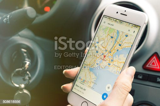 istock Smartphone mapping while in car 508618556