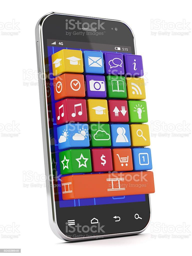 Smartphone media concept stock photo