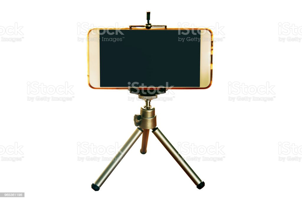 Smartphone on a tripod royalty-free stock photo