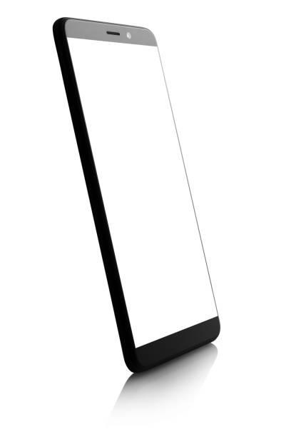 Smartphone on white stock photo