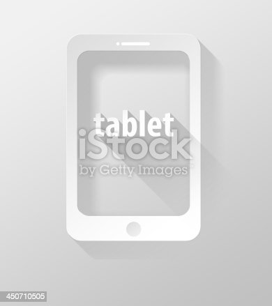 istock Smartphone or Tablet icon and widget 3d illustration flat design 450710505