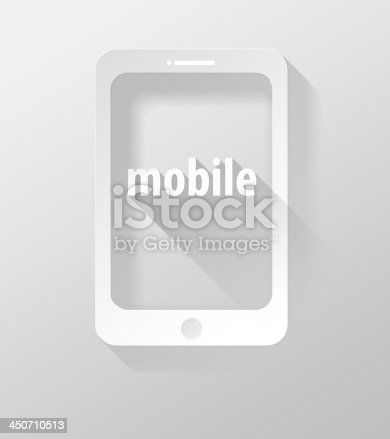 istock Smartphone or Tablet Mobile icon and widget 3d illustration 450710513