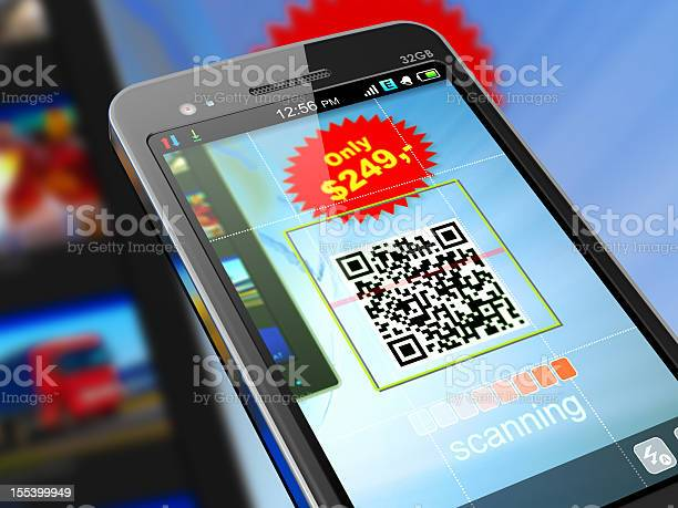 Smartphone Scanning Qr Code For Shopping Stock Photo - Download Image Now