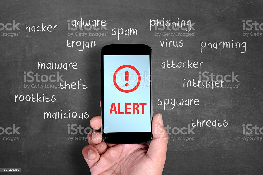 Smartphone security alert​​​ foto