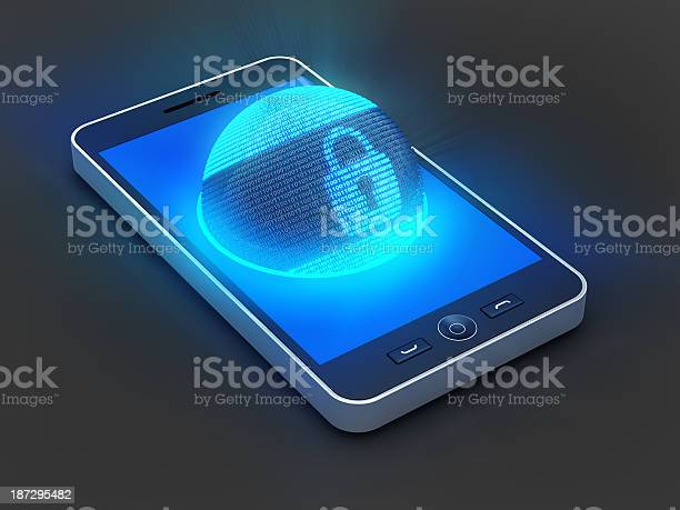 Smartphone Security Stock Photo - Download Image Now