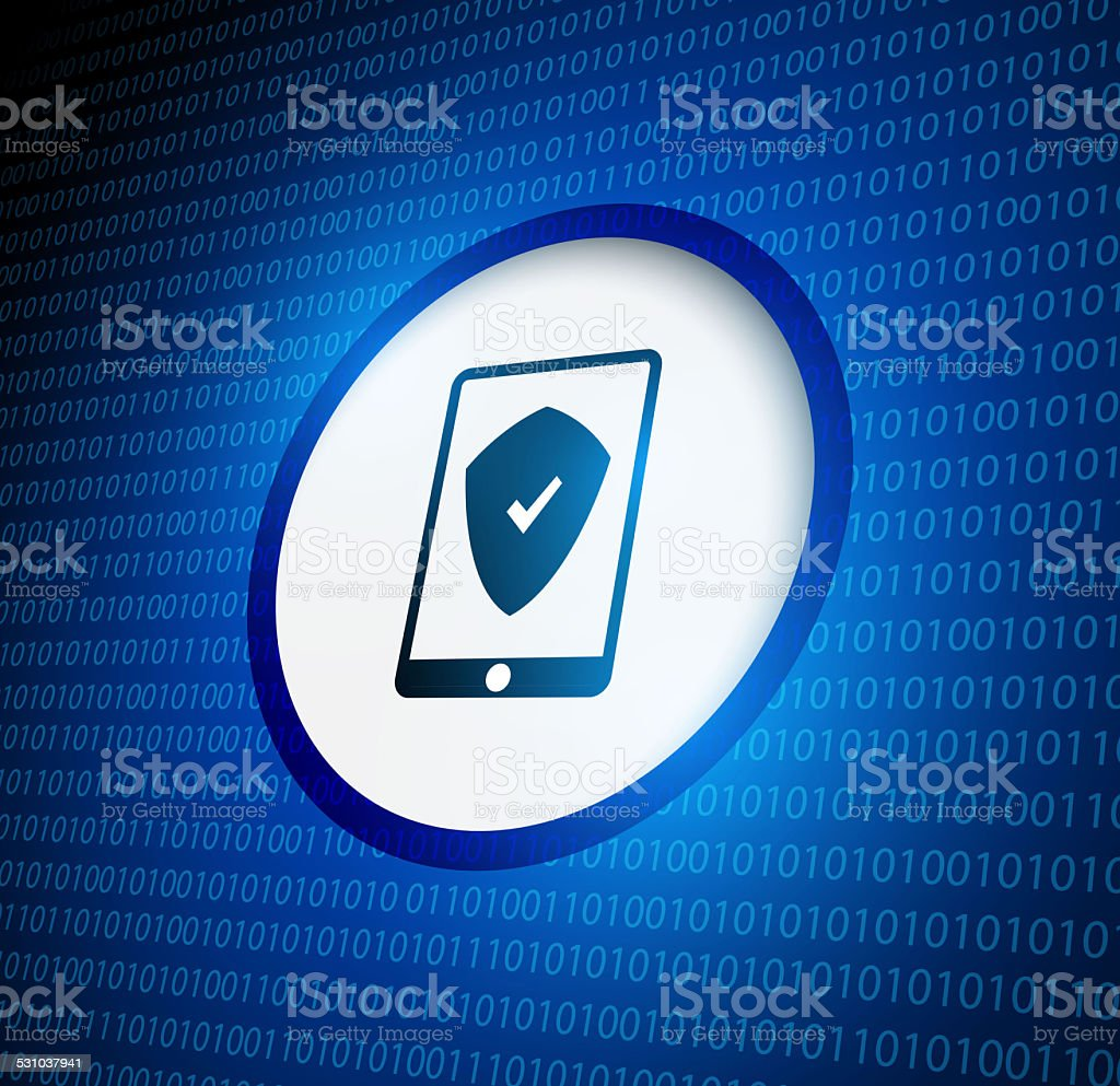 Smartphone security protection stock photo