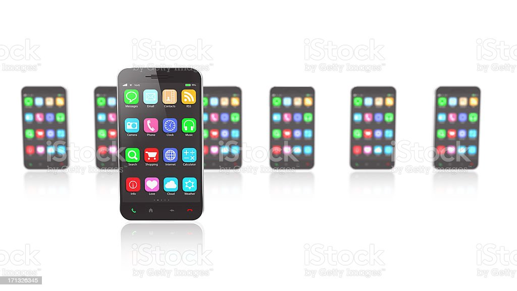 Smartphone Selection royalty-free stock photo