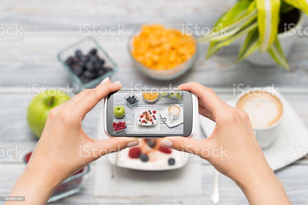 Smartphone shot food photo. stock photo