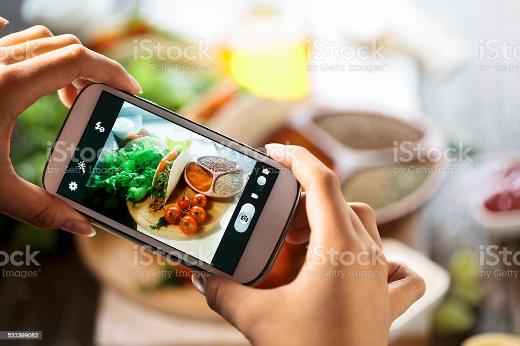 smartphone shot food photo stock photo