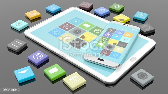 istock Smartphone, tablet isolated on white 960219940