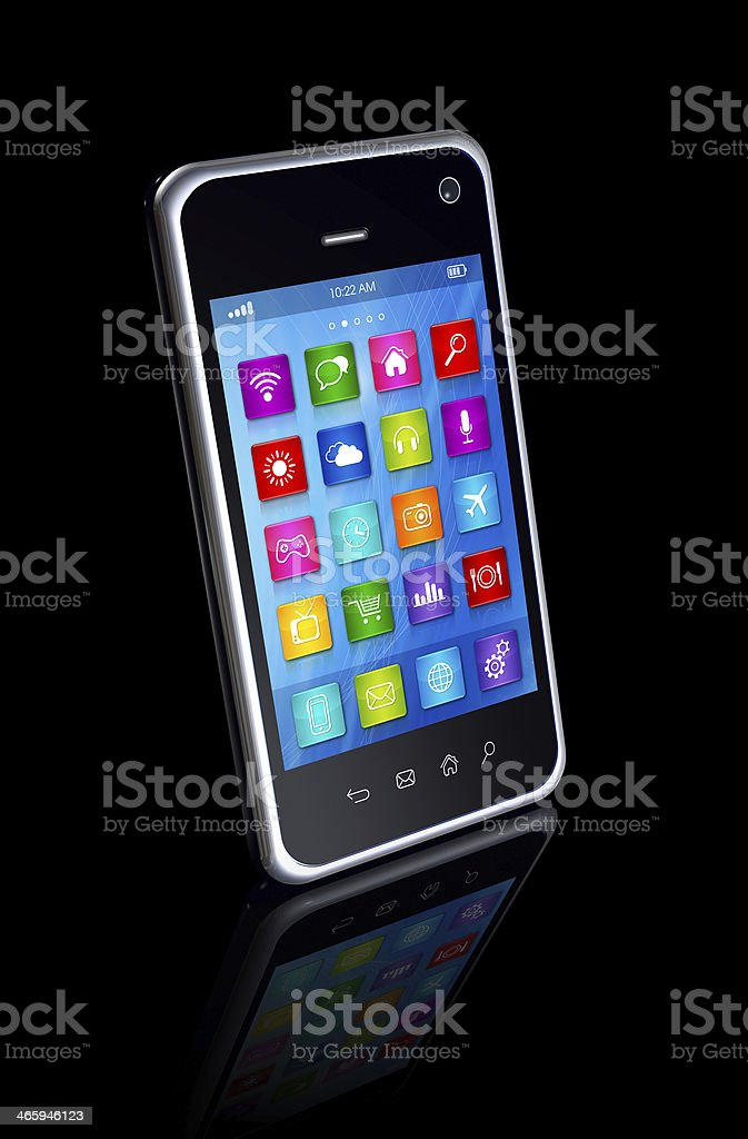 Smartphone Touchscreen Hd Apps Icons Interface Stock Photo & More