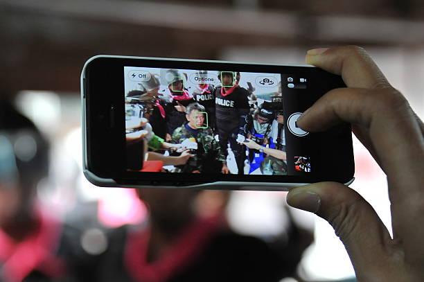Smartphone User stock photo