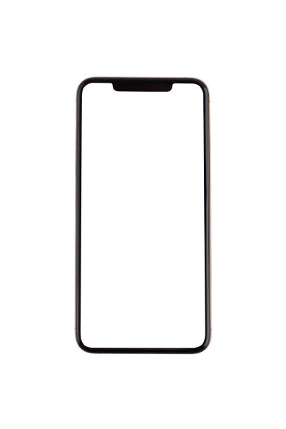 Smartphone with a blank white screen. stock photo
