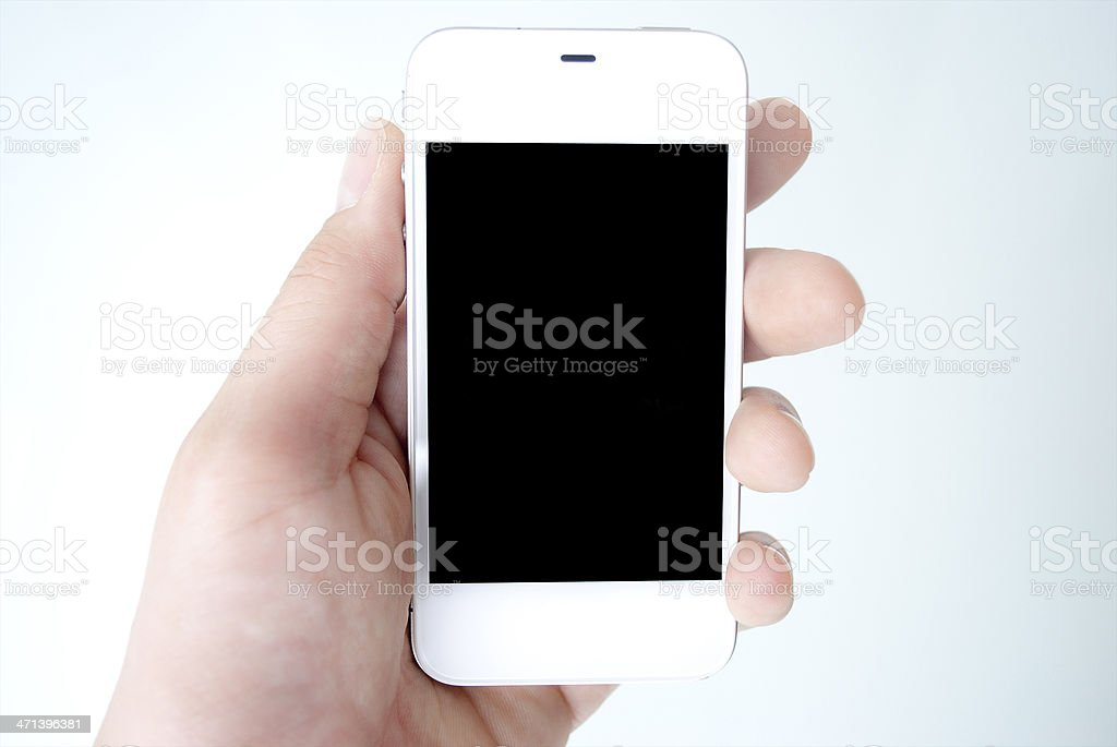 Smartphone with black display royalty-free stock photo