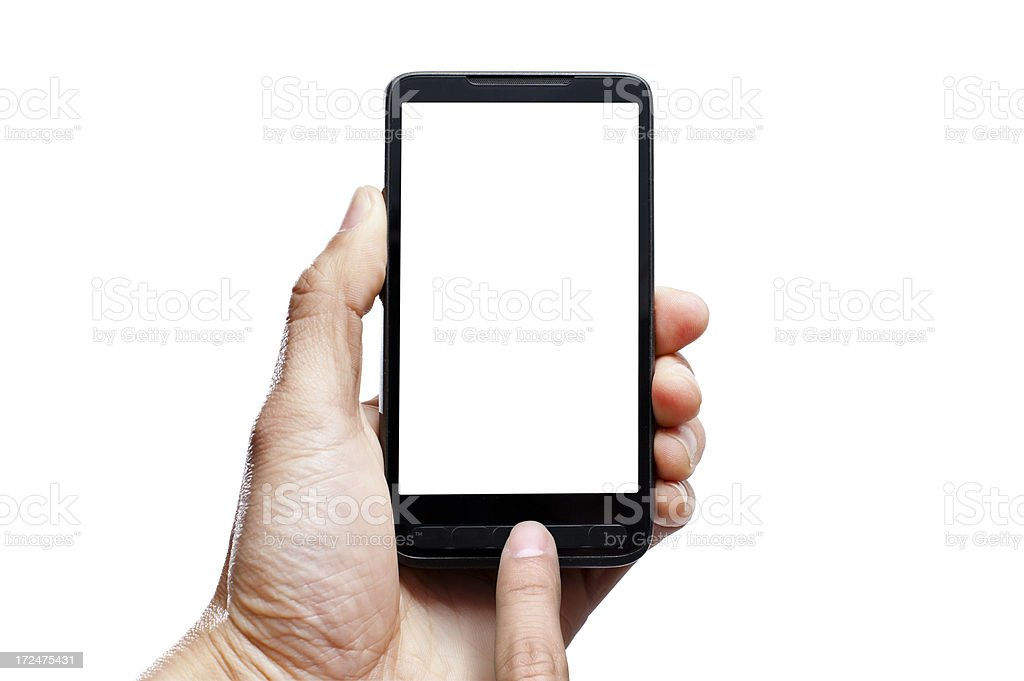 Smartphone with blank screen. royalty-free stock photo