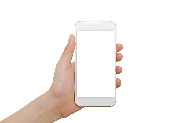 smartphone with blank screen - photo messaging stock photos and pictures