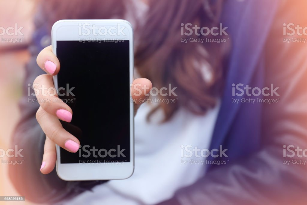 Smartphone with blank screen foto stock royalty-free
