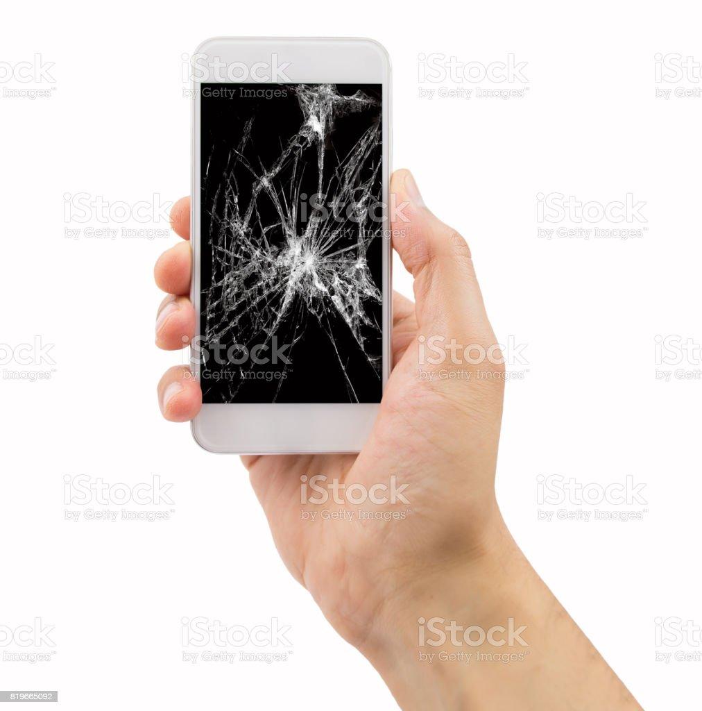 smartphone mit gebrochenen Bildschirm – Foto