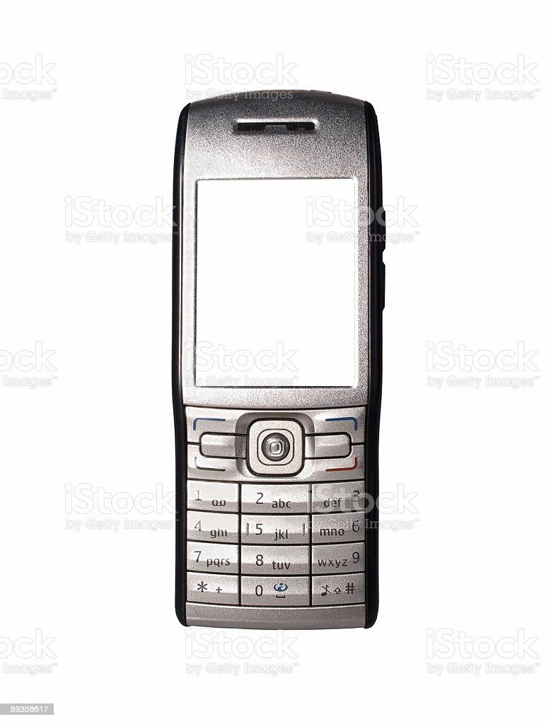 smartphone con cornice vuota pronto per il testo foto stock royalty-free