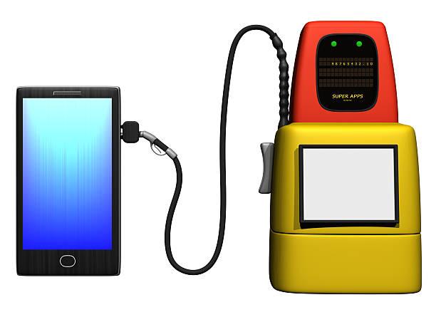 smartphone mit gas pump – Foto