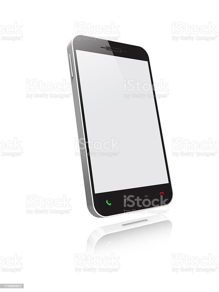 Smartphone with icons royalty-free stock photo