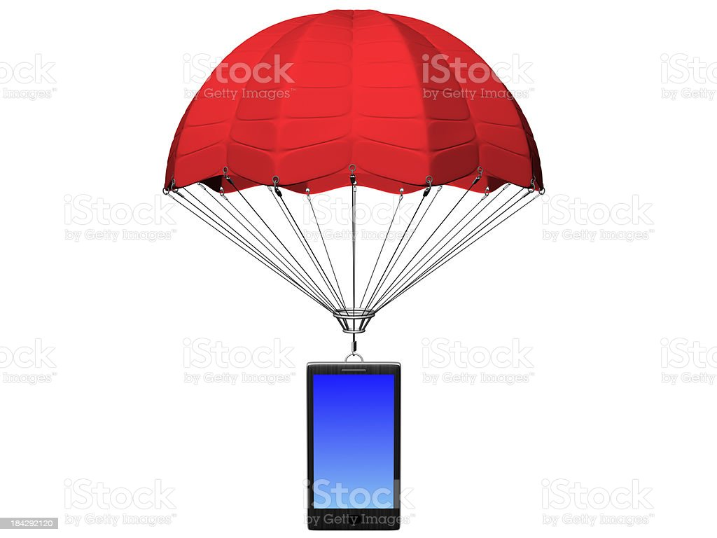 Smartphone With Parachute Stock Photo & More Pictures of Assistance ...