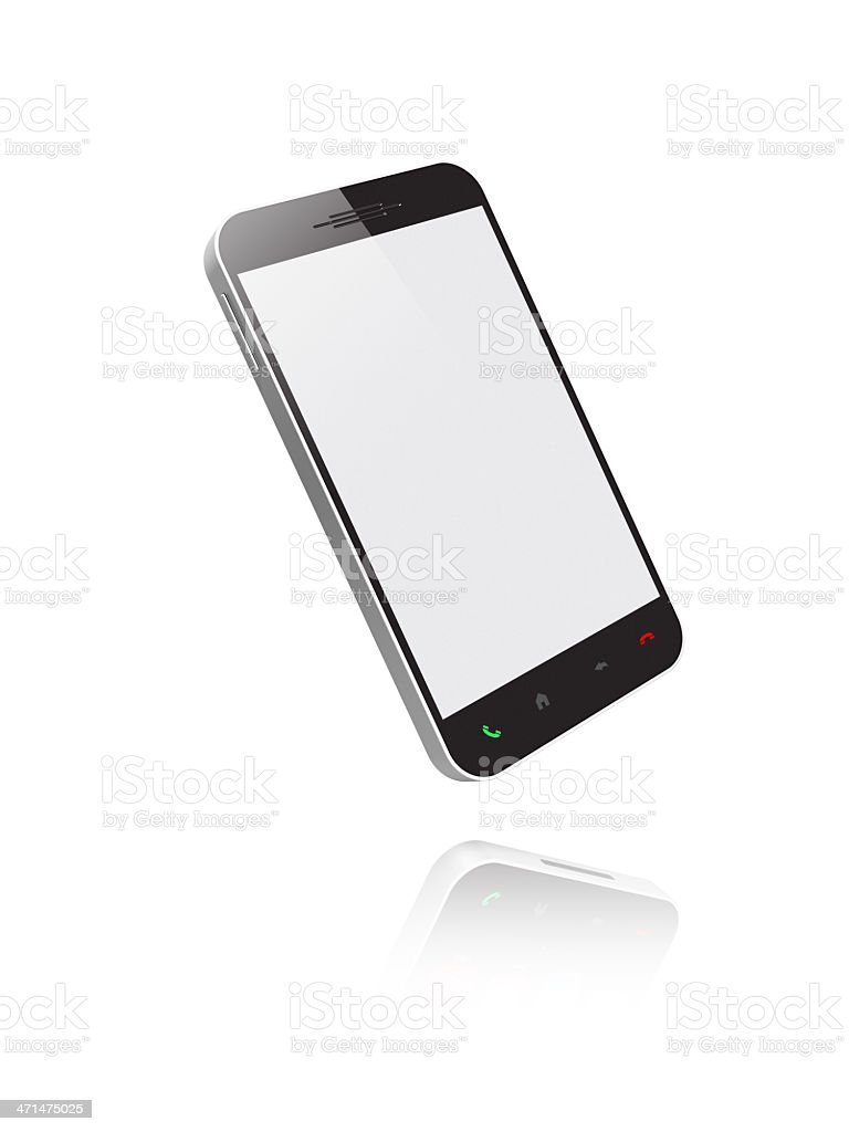 Smartphone with white screen. stock photo