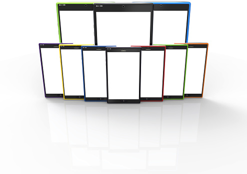 1044507110 istock photo Smartphones and tablets in wall formation 517424449