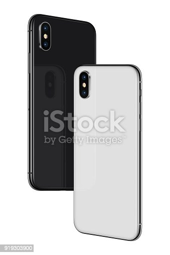 istock Smartphones back sides soaring in the air 919303900