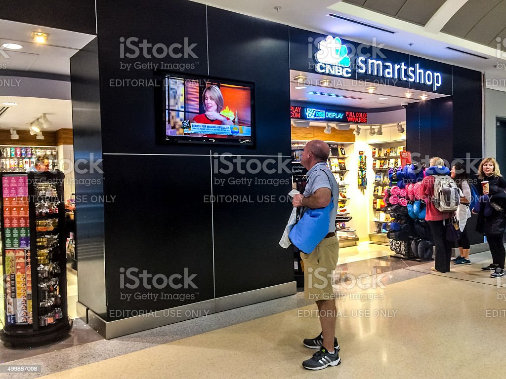 CNBC smartshop at Atlanta Airport, USA stock photo