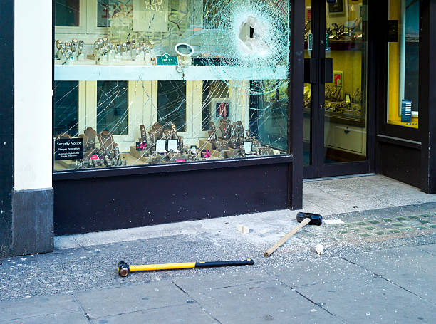 Smash and grab - London West End stock photo