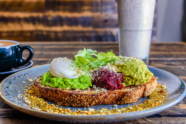 Smashed Avocado stock photo