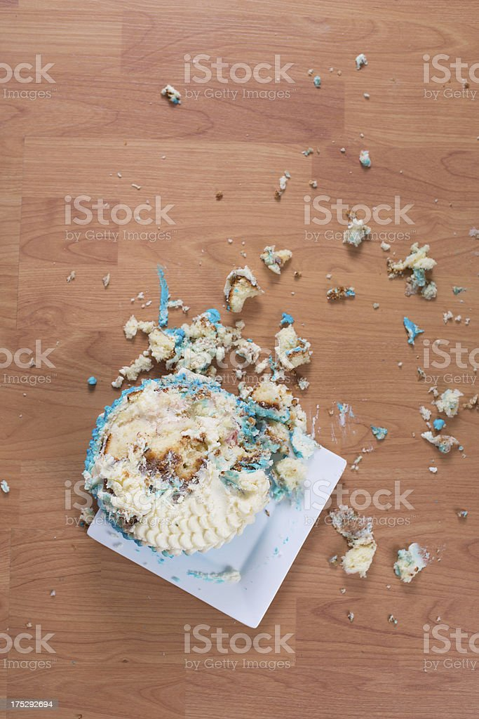 Smashed Birthday Cake On Floor Stock Photo More Pictures Of
