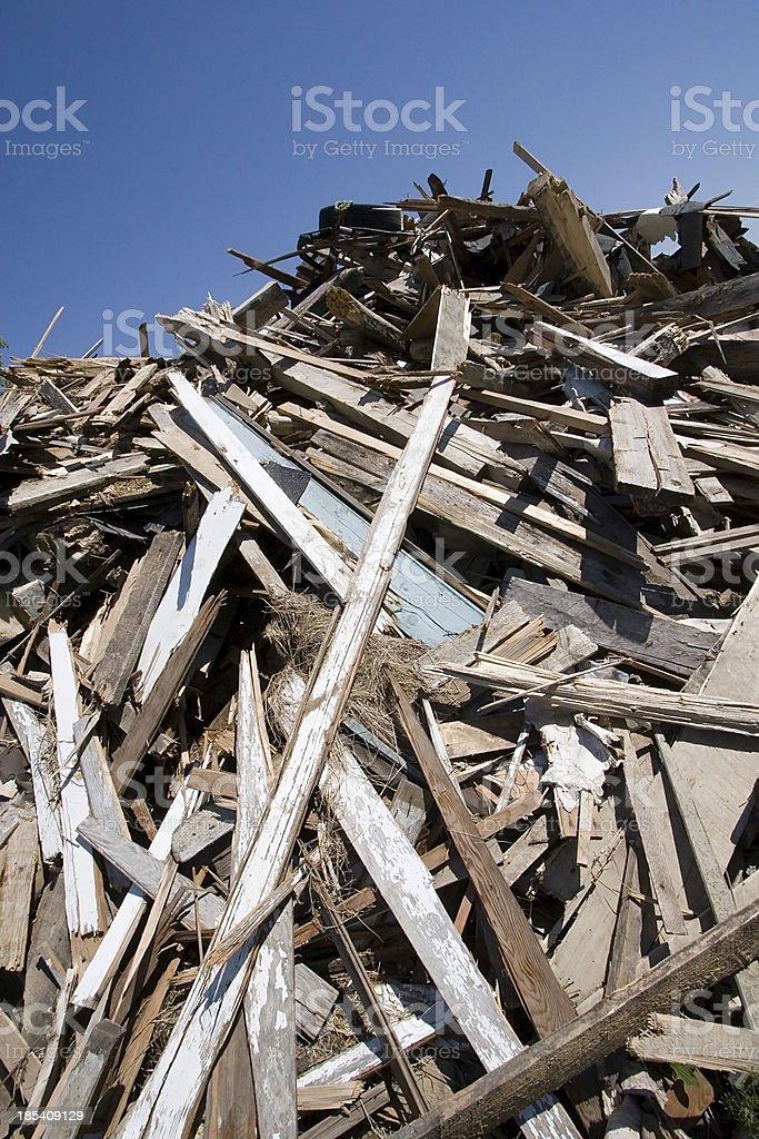 Smashed house debris. royalty-free stock photo