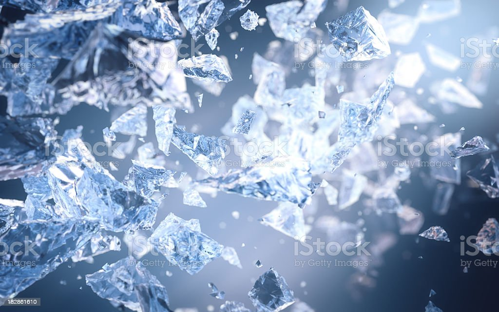 Smashed Ice stock photo