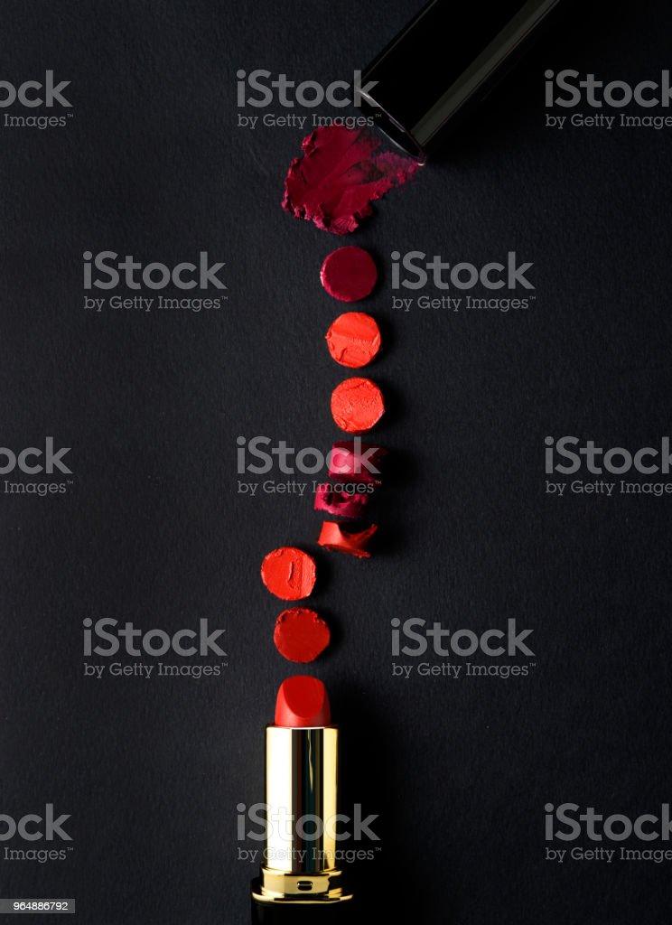 Smashed lipsticks. royalty-free stock photo