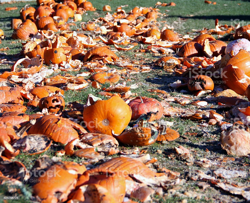 Smashed Pumpkins royalty-free stock photo