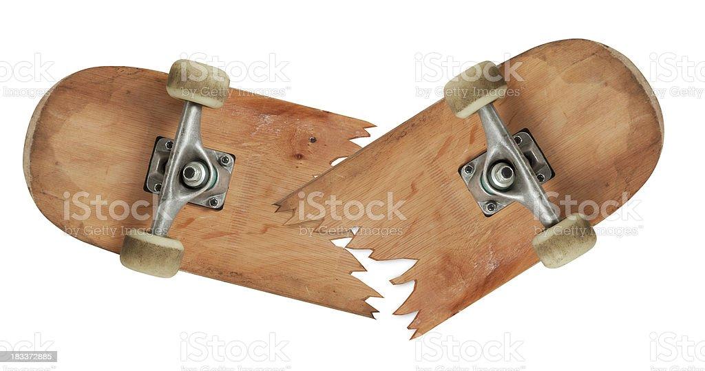 Smashed Skateboard stock photo