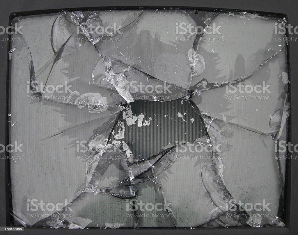 Smashed Television royalty-free stock photo