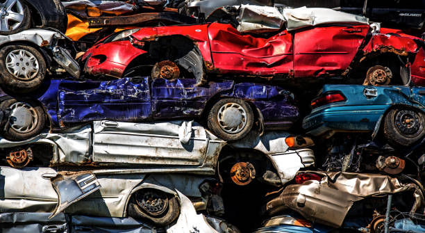 22 Accident Damaged Cars For Sale Stock Photos, Pictures
