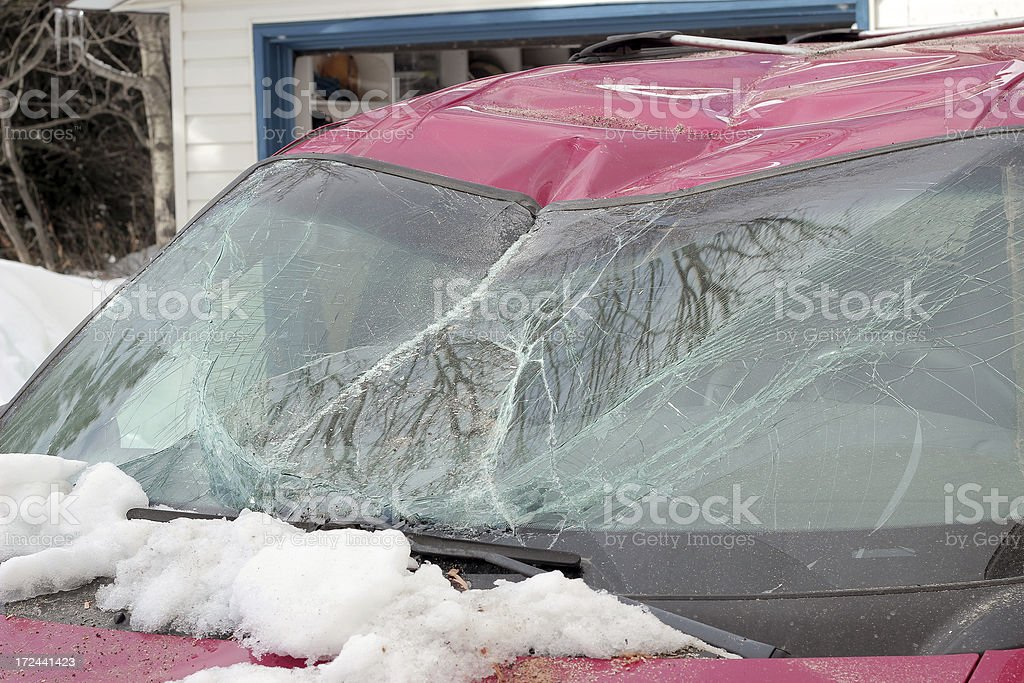 Smashed Vehicle royalty-free stock photo