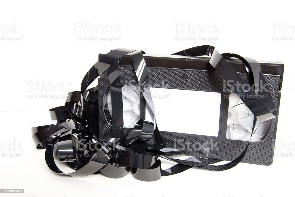 Smashed VHS Tape royalty-free stock photo
