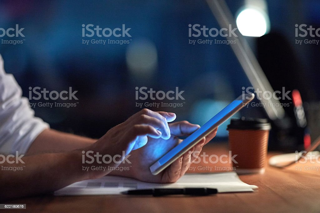 Smashing the deadline with smart technology stock photo