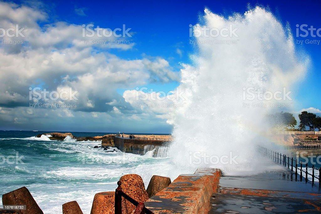 Smashing Waves stock photo