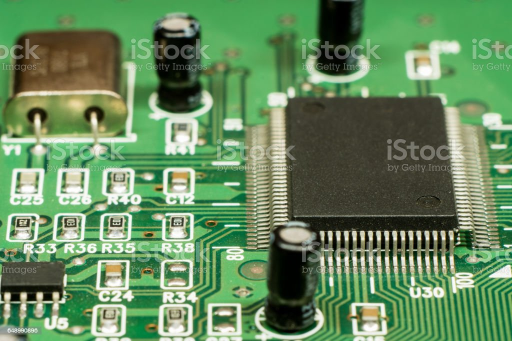 smd printed electronic circuit board with micro controller and rh istockphoto com
